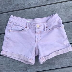 Mossimo pink denim shorts, size 0/25
